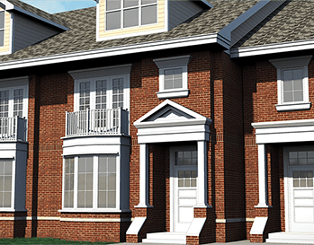 Grandview Commons Dexter Park Place Townhomes Rendering